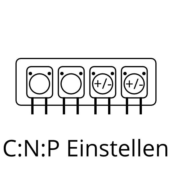Dosierung von Nutrition C:N:P einstellen