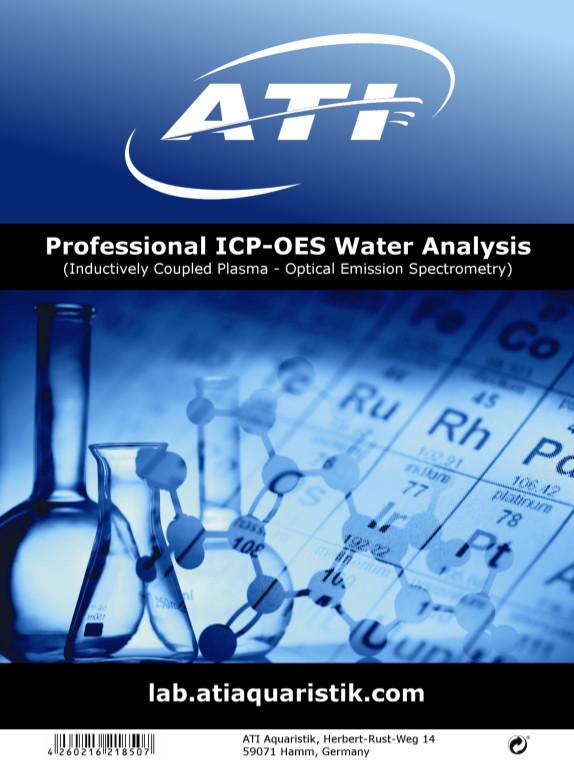 Wasseranalyse Etikett