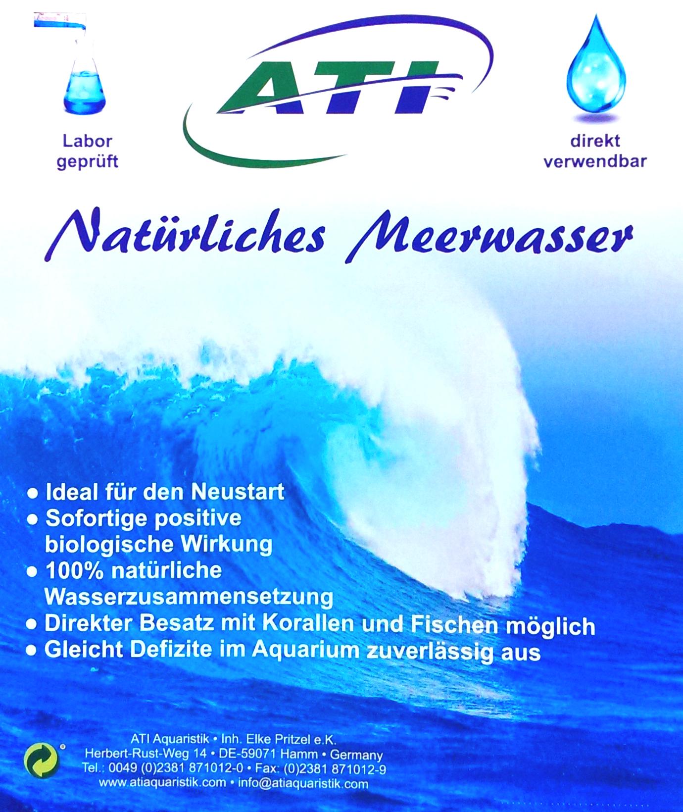 Natürliches Meerwasser