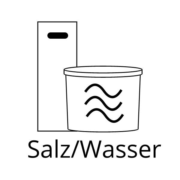 Salz und Meerwasser