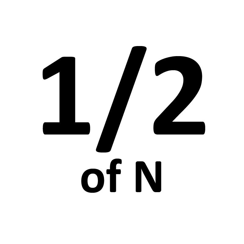 Half of N